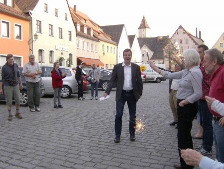 Der große Triumph: Hans-Jürgen Nekolla ist Bürgermeister von Gräfenberg