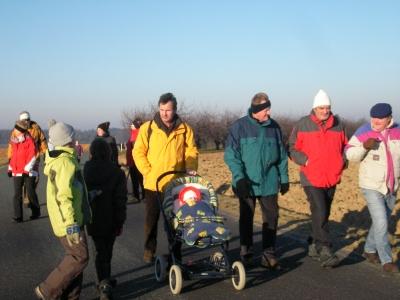 Winterwanderung 2008 unterwegs nach Lilling