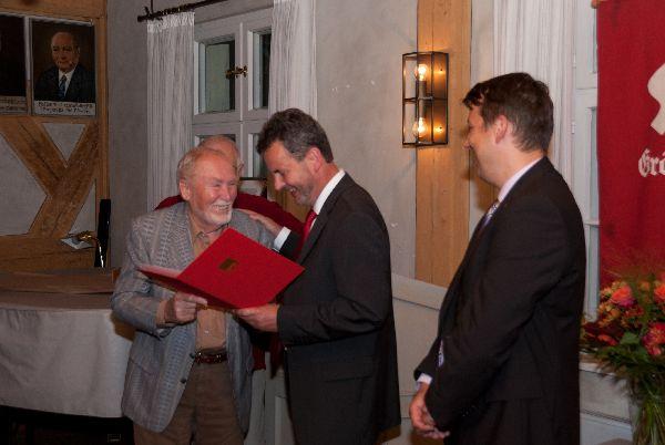 Ehrung von Fritz Kailer für 50 Jahre Mitgliedschaft